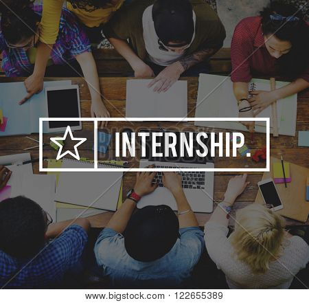 Internship Learning Management Trainee Skills Concept