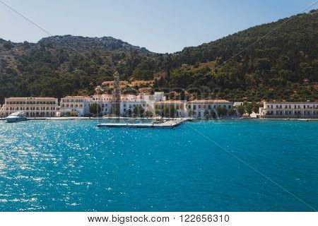 Greece. Panormitis. The monastery and the promenade