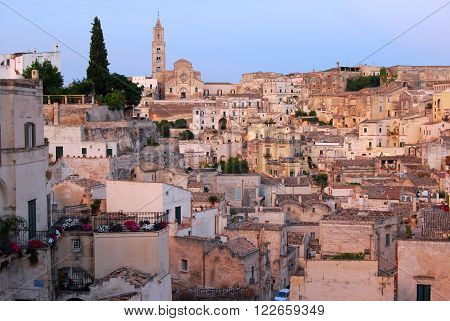 A view of Matera the