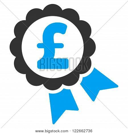 Featured Pound Price Label vector icon. Featured Pound Price Label icon symbol. Featured Pound Price Label icon image. Featured Pound Price Label icon picture. Featured Pound Price Label pictogram.