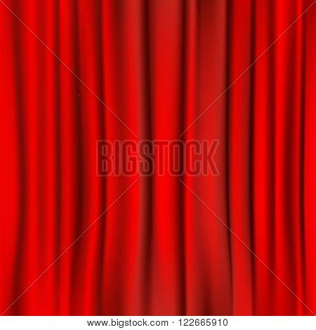 red curtain square background. design element. vector illustration