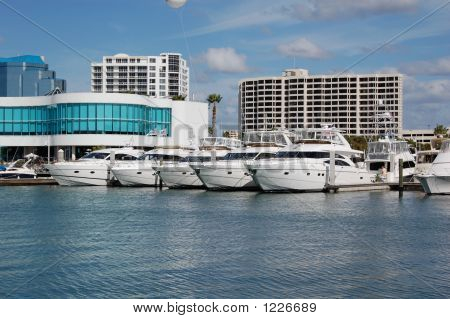 Yachts At The Dock