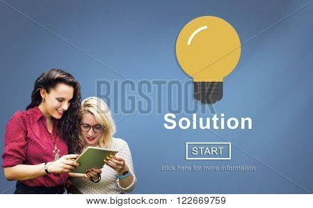 Solution Problem Solve Result Progress Concept