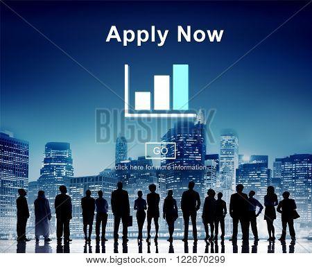 Apply Now Recruitment Hiring Job Employment Concept