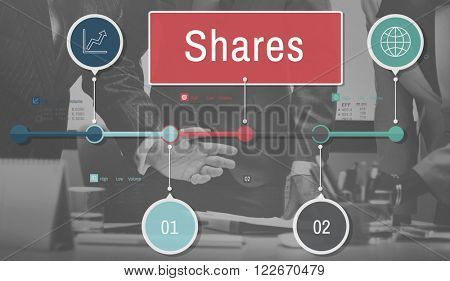 Shares Sharing Social Networking Connection Global Communications Concept