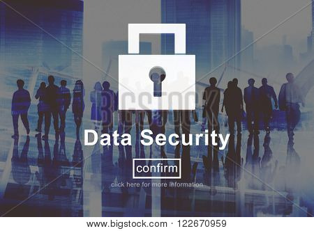 Data Security Protection Privacy Interface Concept
