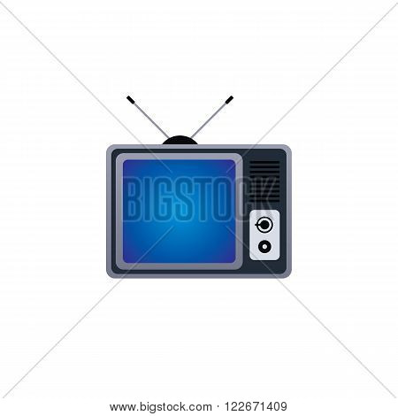 flat televison icon theme vector art illustration