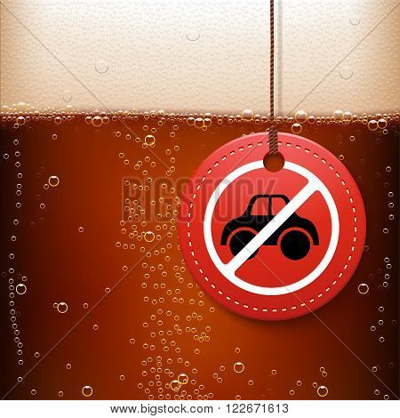 illustration of beer background with dont drive drunk label on it