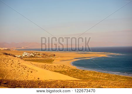 Sotavento beach on Jandia peninsula on Fuerteventura island in Spain