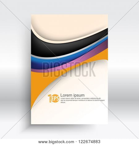 wave shape elements corporate abstract design. eps10 vector