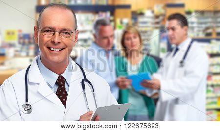Mature medical doctor man.