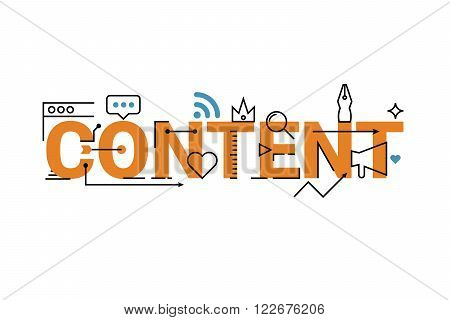 Content Word Lettering Design