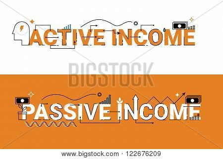 Active And Passive Income Illustration