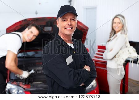 Mature auto mechanic.