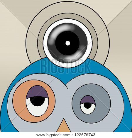 Camera animal, ilustration camera with fun animal