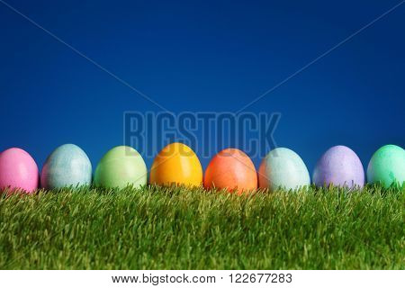 Festive Easter background colorful eggs