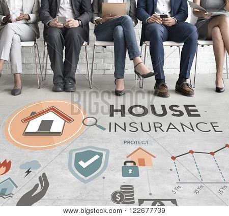 House Insurance Security Property Protection Concept