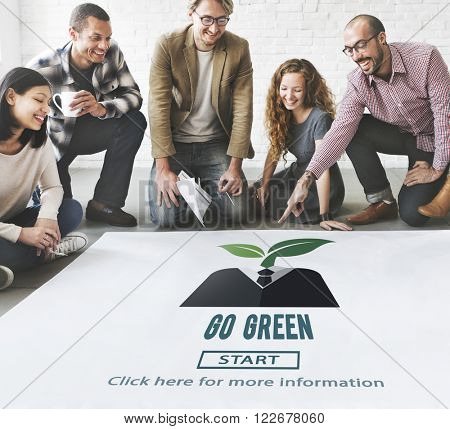 Go Green Eco Ecology Environment Natural Earth Concept