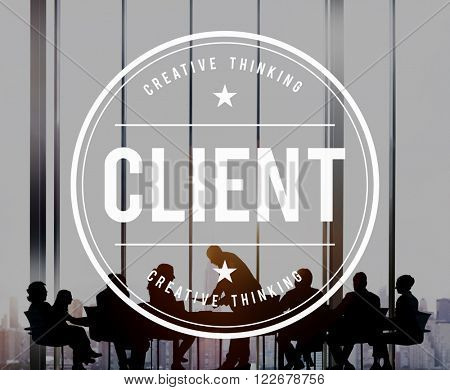 Client Customer Service Buyer Concept