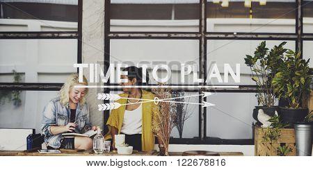 Time to Plan Management Idea Mission Objective Concept