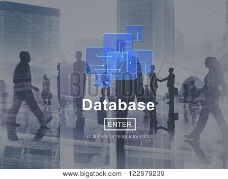 Database Online Technology Website Storage Concept