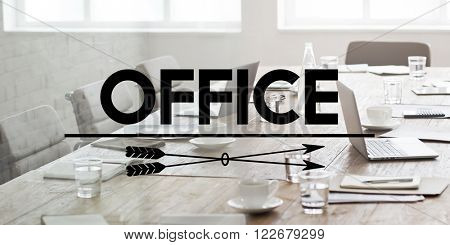 Office Workplace Place of Work Working Headquarter Concept