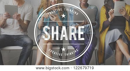 Share Ideas Moments Connection Information Concept