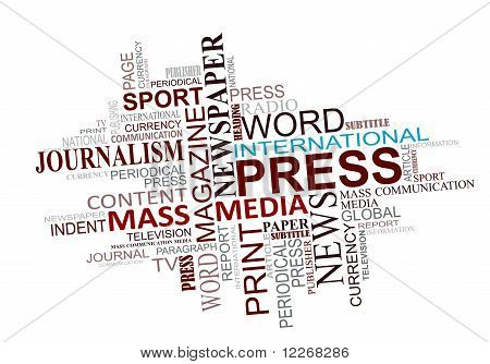 Media And Journalism Tags Cloud