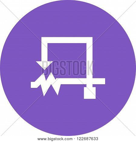 Rheostat, circuit, electronic icon vector image. Can also be used for electric circuits. Suitable for use on web apps, mobile apps and print media.