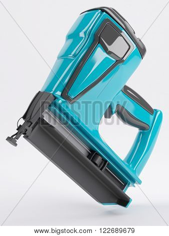 3d render of a nail gun