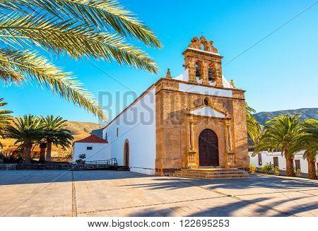 Nuestra Senora de la Pena church near Betancuria village on Fuerteventura island in Spain