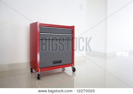 Isolated Red Toolbox