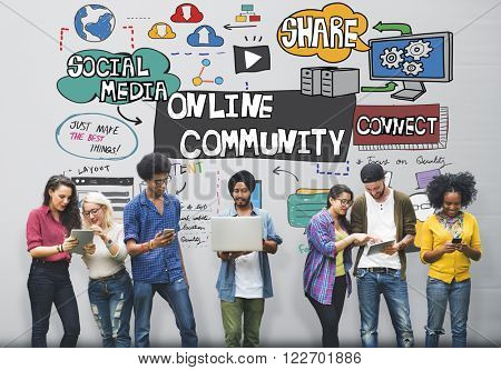 Online Community Social Networking Society Togetherness Concept