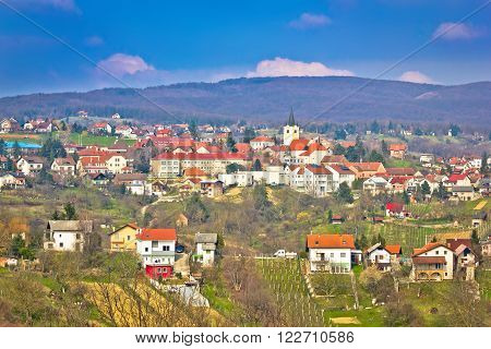 Town of Sveti Ivan Zelina view Prigorje Croatia
