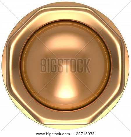 Button gold casino luck game win start turn off on action push down activate ignition power switch electric design element metallic shiny blank golden yellow luxury
