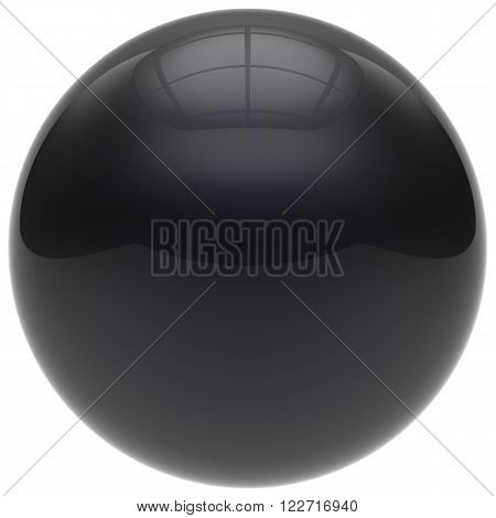 Sphere button round ball black geometric shape basic circle solid figure simple minimalistic element single drop dark shiny glossy sparkling object blank balloon atom icon. 3d render isolated