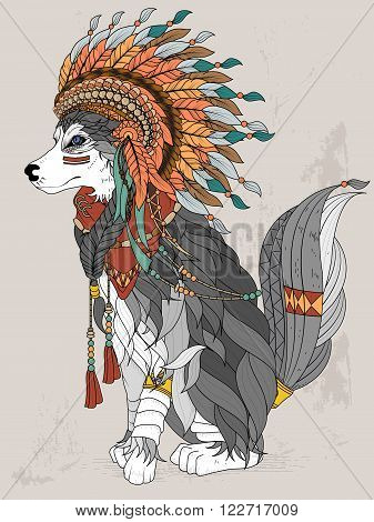 Lovely Wolf Coloring Page