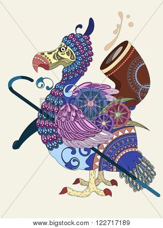 Lovely Bird Coloring Page