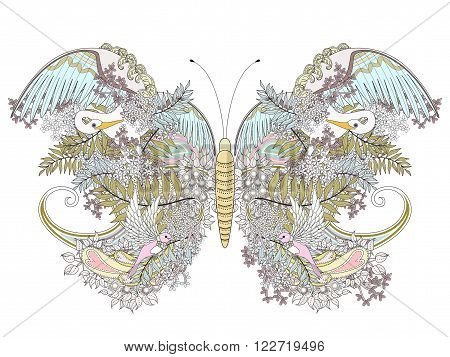 Creative Butterfly Coloring Page