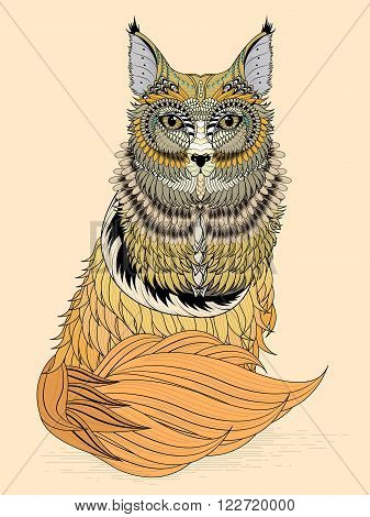Adorable Fox Coloring Page