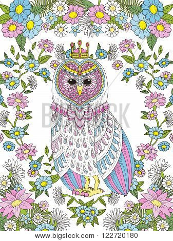 Lovely Owl Coloring Page