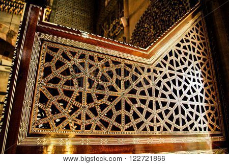 Ottoman decoration with mother of pear inlay