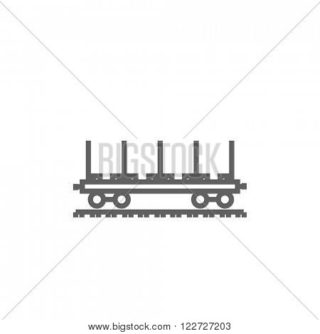 Cargo wagon line icon.