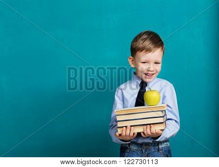 Little Student Holding Books
