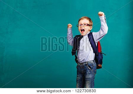 Child Bouncing Into The Classroom.