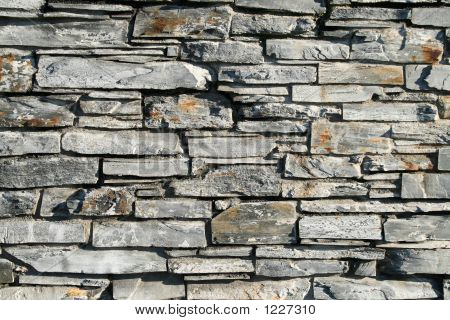 Gray Stone Wall Background.