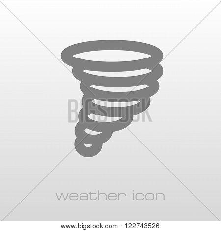 Tornado Whirlwind outline icon. Meteorology. Weather. Vector illustration eps 10