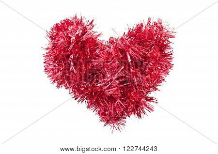 Christmas Tinsel Or Garland Heart Shape