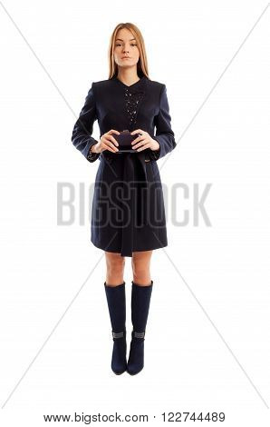 Very Confident Business Woman Standing Straight
