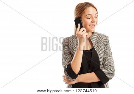 Business Woman Having A Cell Phone Conversation